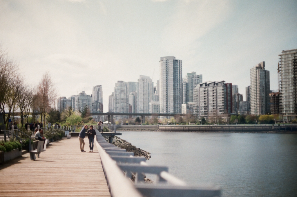 Two people in Vancouver British Columbia