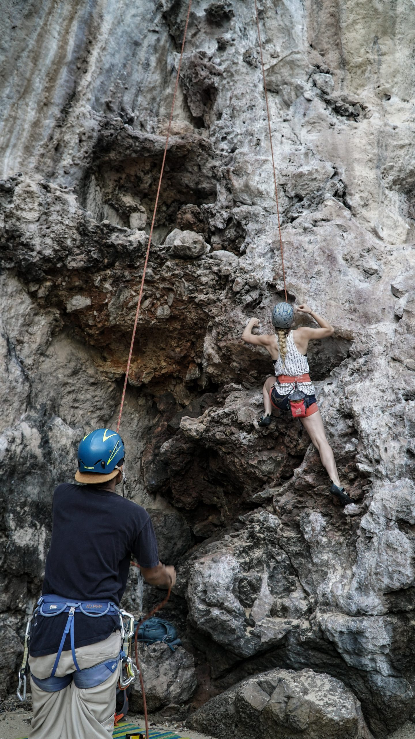 rock climber in Railay Beach thailand