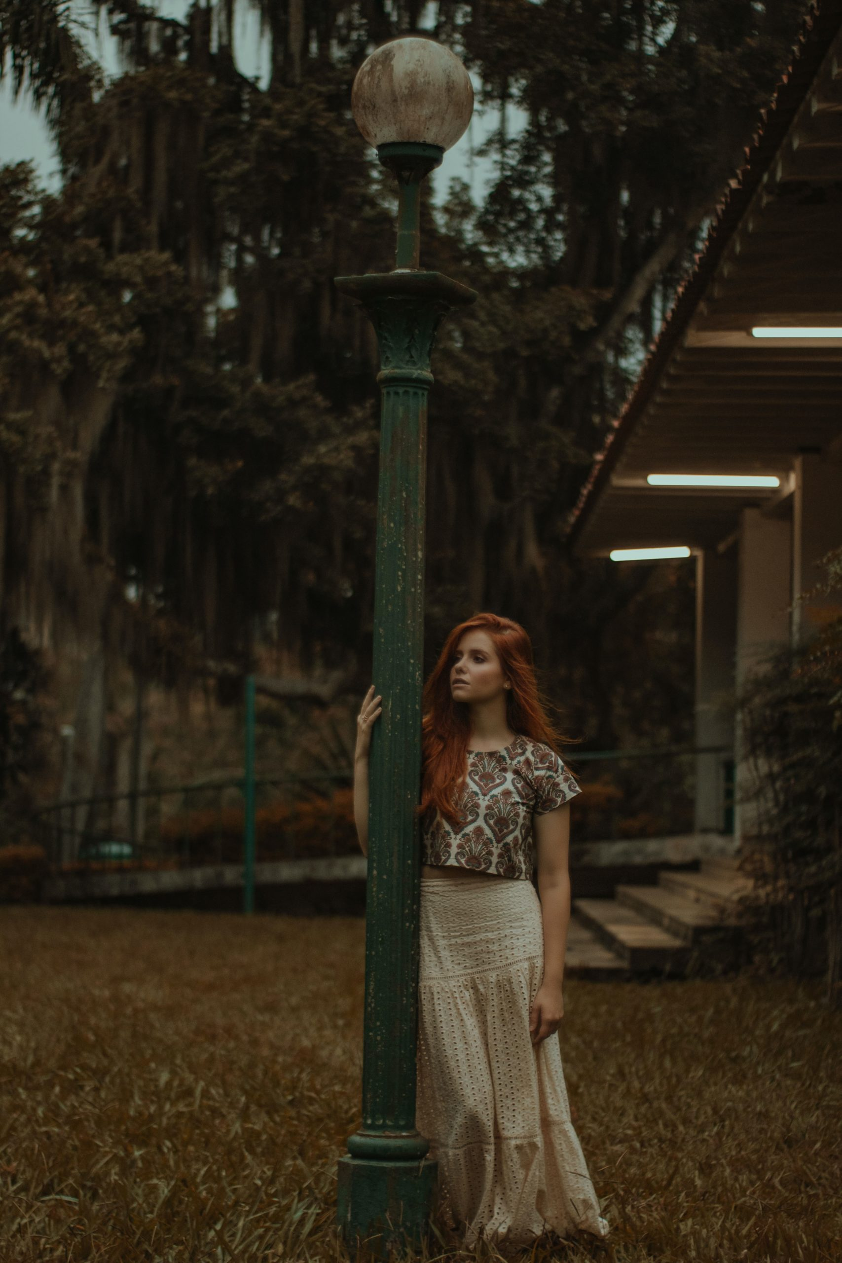 red head wearing boho outfit