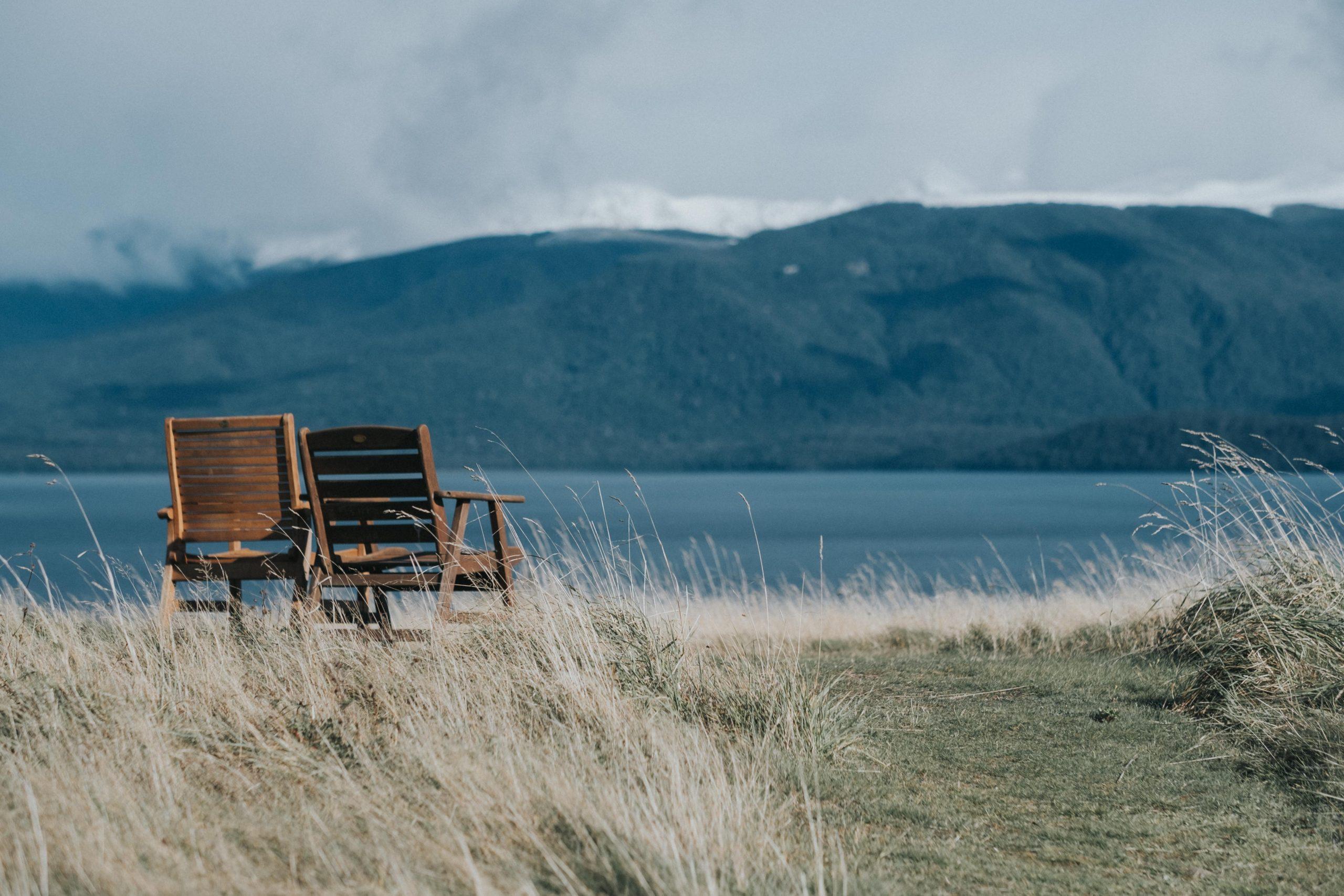 two chairs in Te Anau Lodge, Te Anau, New Zealand