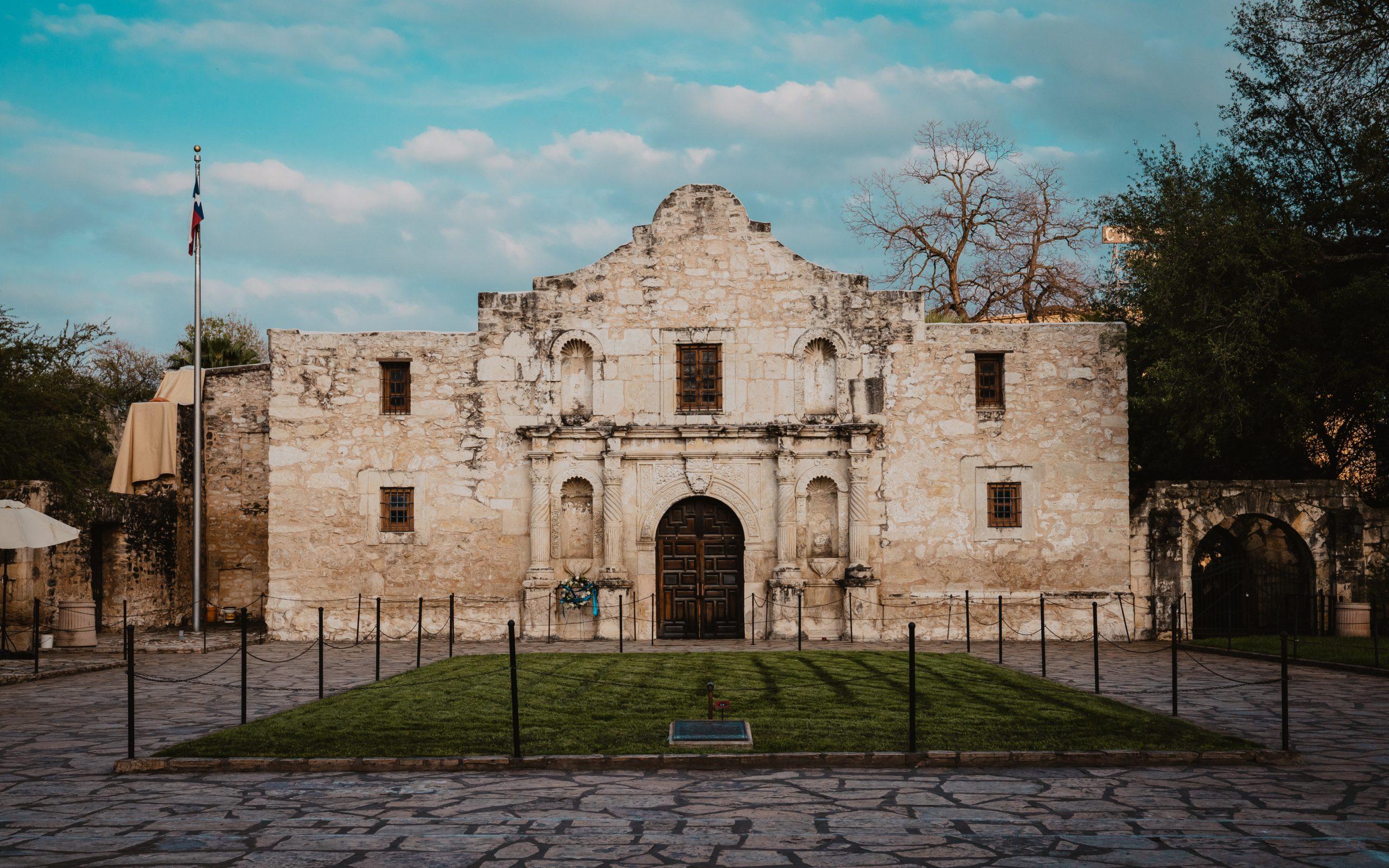 Historic Alamo building in downtown San Antonio, Texas