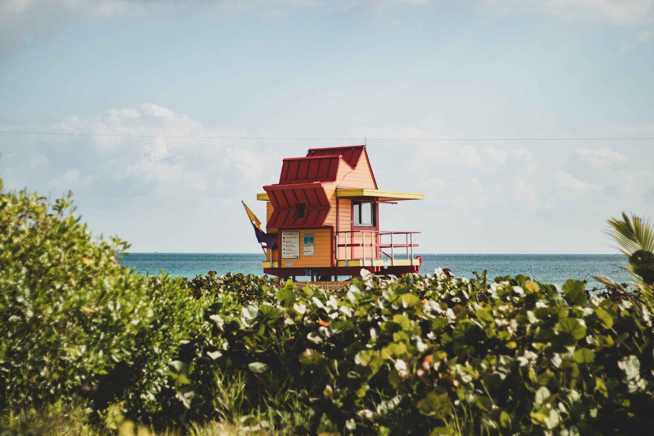 Hidden gems in Miami include this secluded beach and lifeguard stand.