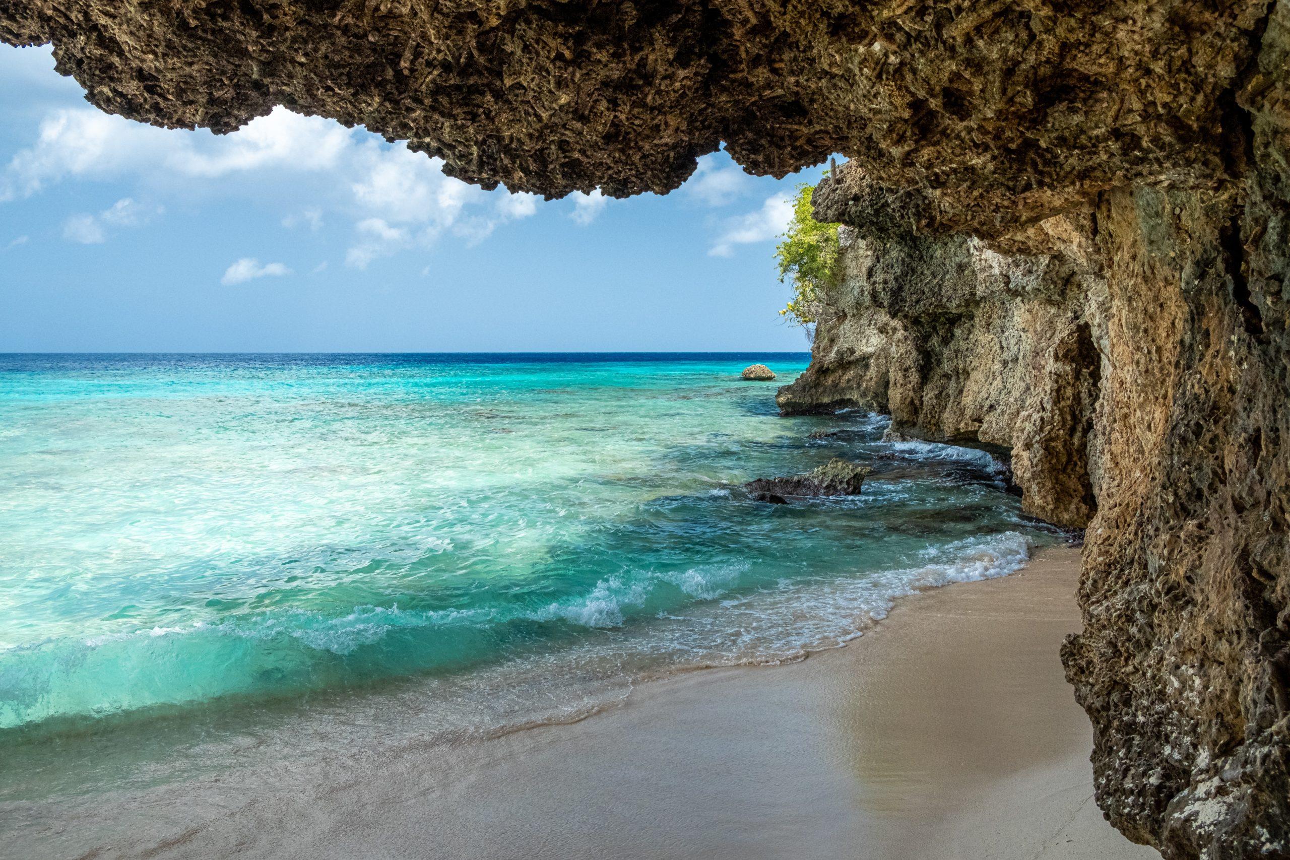 cave on a caribbean island