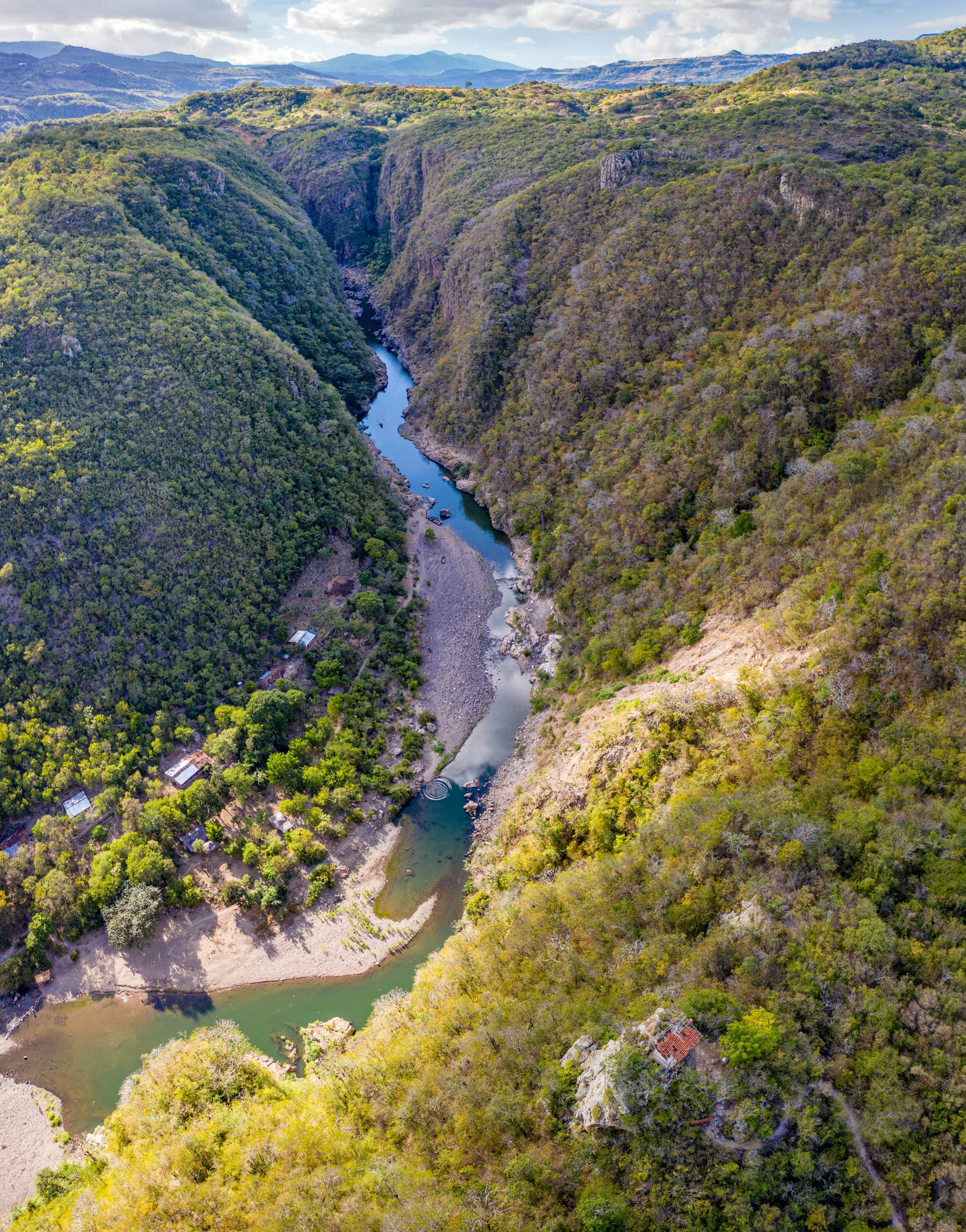 The deep gorge of Somoto Canyon is