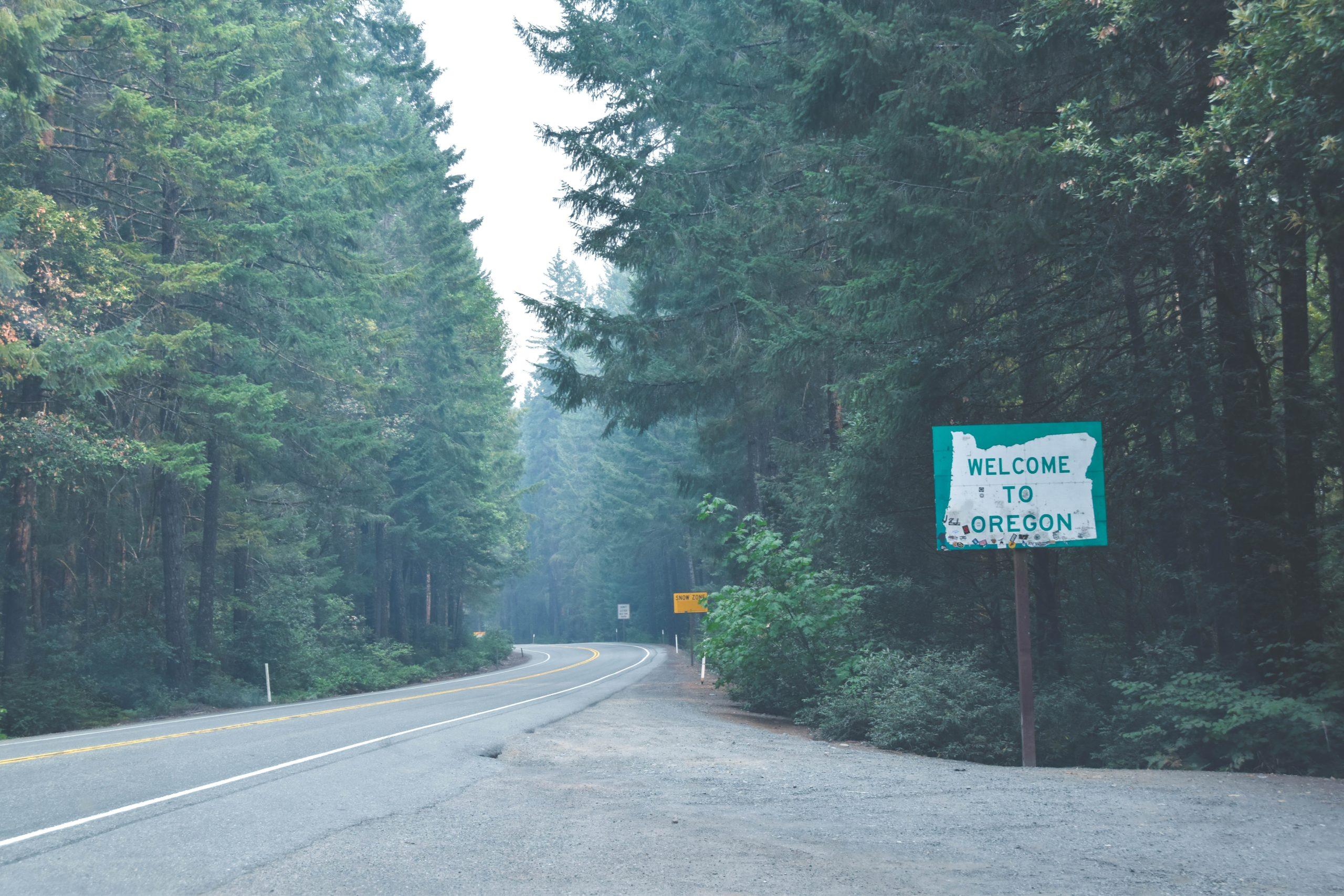 street sign in portland oregon US