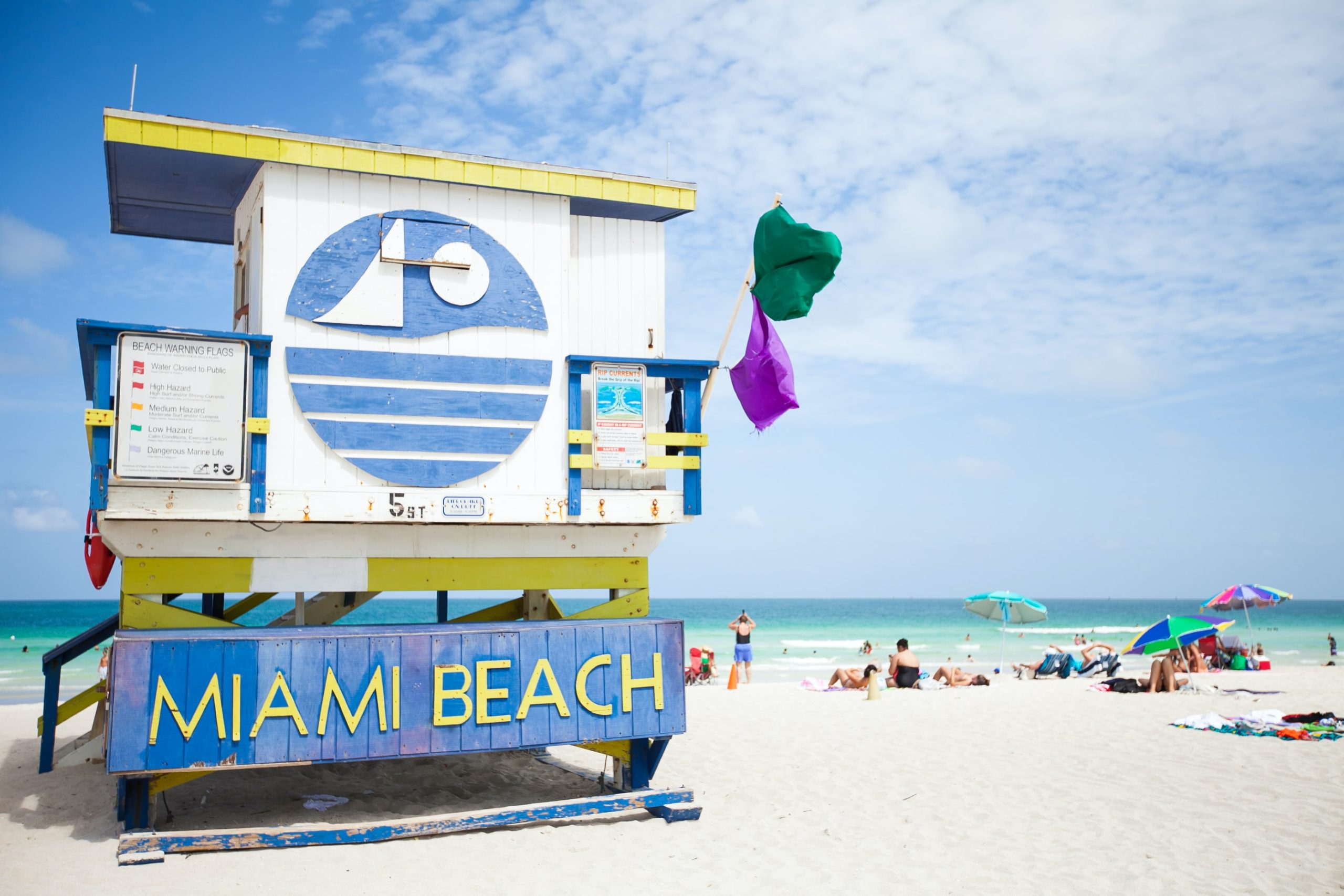 lifeguard stand in miami beach united states