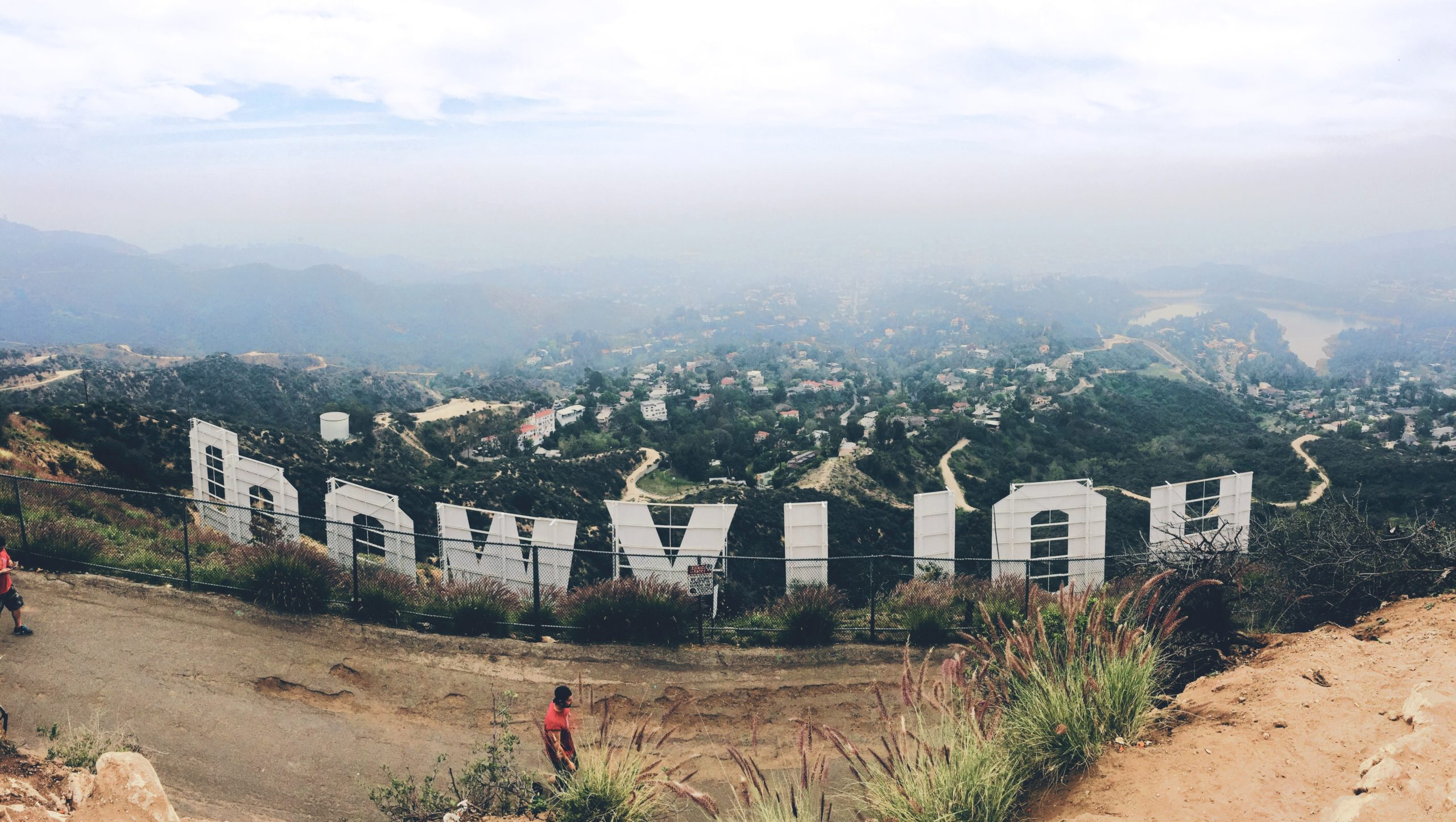 Hollywood sign in las angeles california